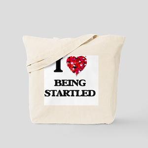 I love Being Startled Tote Bag
