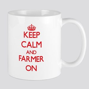 Keep Calm and Farmer ON Mugs