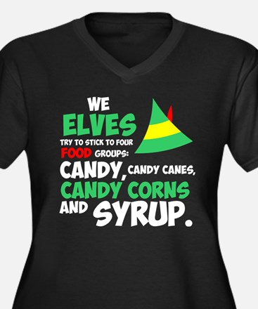 We Elves Try To Stick To Four Fo Plus Size T-Shirt