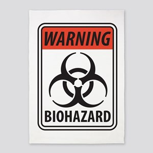 Biohazard Warning 5'x7'Area Rug