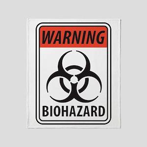 Biohazard Warning Throw Blanket