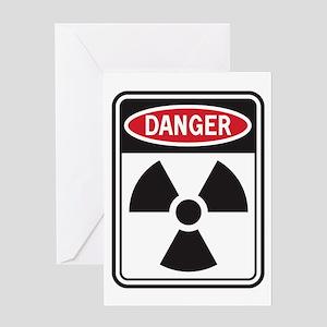 Danger Radiation Greeting Card