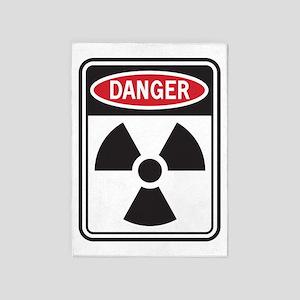 Danger Radiation 5'x7'Area Rug