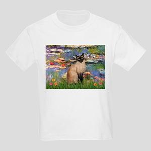 Lilies (2) & Siamese Kids Light T-Shirt