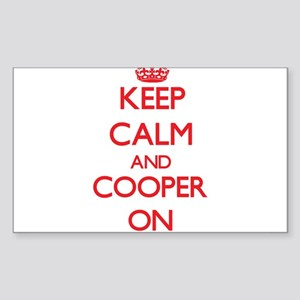Keep Calm and Cooper ON Sticker