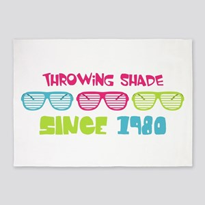 Eighties Shades Sunglasses 5'x7'Area Rug