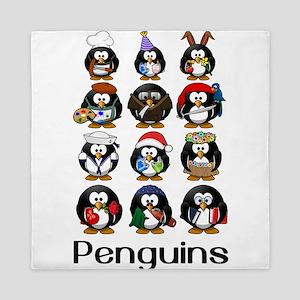 Penguins Queen Duvet