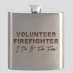 VOLUNTEER FIREFIGHTER Flask