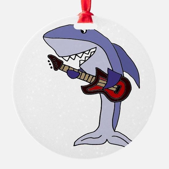 Shark Playing Guitar Ornament