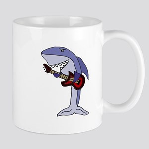 Shark Playing Guitar Mugs