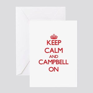 Keep Calm and Campbell ON Greeting Cards