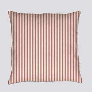 Red Ticking Everyday Pillow