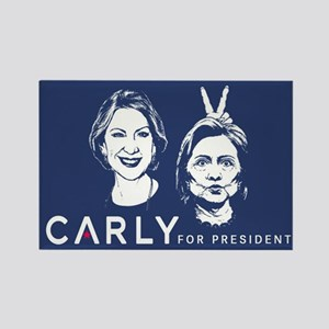 Carly Hillary Bunny Ears Rectangle Magnet