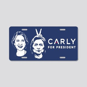 Carly Hillary Bunny Ears Aluminum License Plate