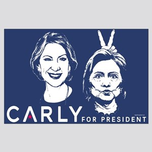 Carly Hillary Bunny Ears Large Poster