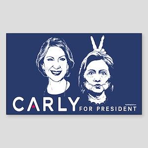Carly Hillary Bunny Ears Sticker (Rectangle)