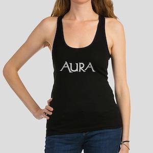 Aura Women's Racerback Tank Top (white Logo)