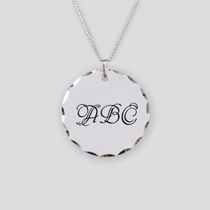 Monogrammed Initials Necklace Circle Charm