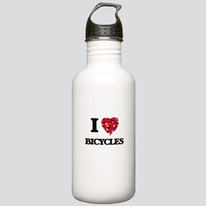 I Love Bicycles Stainless Water Bottle 1.0L