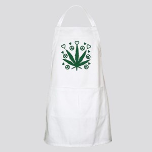 Peace Love Weed BBQ Apron