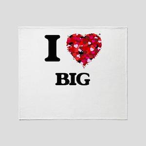 I Love Big Throw Blanket