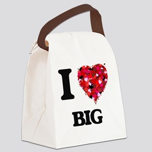 I Love Big Canvas Lunch Bag