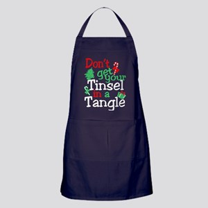Dont Get Your Tinsel In A Tangle Chri Apron (dark)