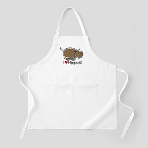 I Love Hippos BBQ Apron