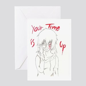 Clocky- Your Time is Up Greeting Card