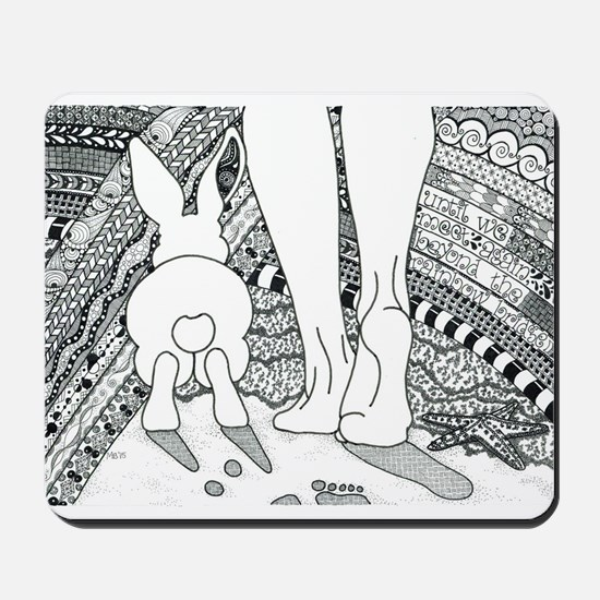 Rabbit Beyond the Rainbow Bridge Mousepad