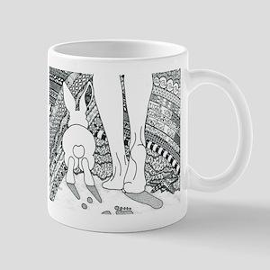Rabbit Beyond the Rainbow Bridge Mugs