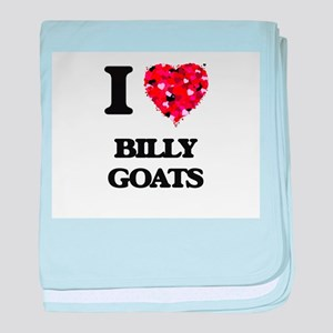 I Love Billy Goats baby blanket