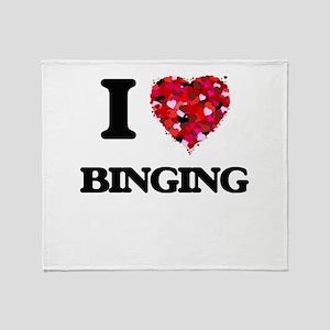 I Love Binging Throw Blanket
