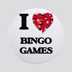 I Love Bingo Games Ornament (Round)