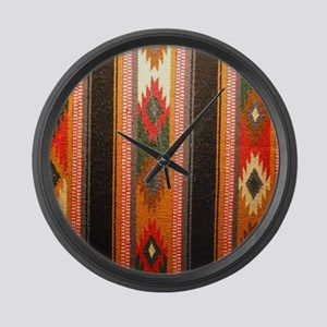 Indian blanket Large Wall Clock