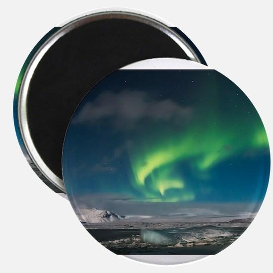 Aurora over Iceland Magnets