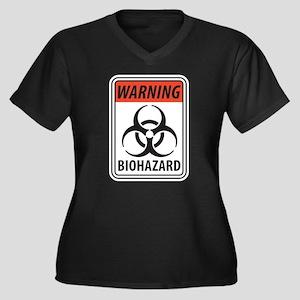 Biohazard Warning Plus Size T-Shirt