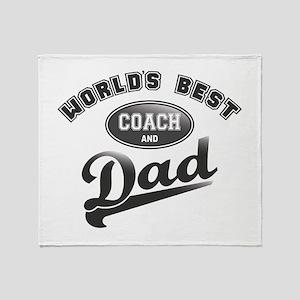 Best Coach/Dad Throw Blanket