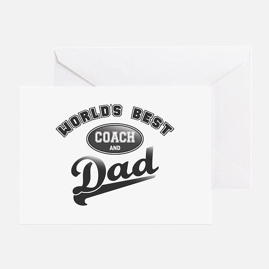Best Coach/Dad Greeting Card
