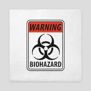 Biohazard Warning Queen Duvet