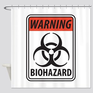 Biohazard Warning Shower Curtain