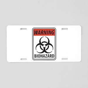 Biohazard Warning Aluminum License Plate