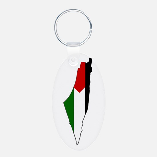 Palestine Flag Map Keychains