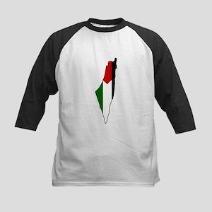 Palestine Flag Map Kids Baseball Jersey