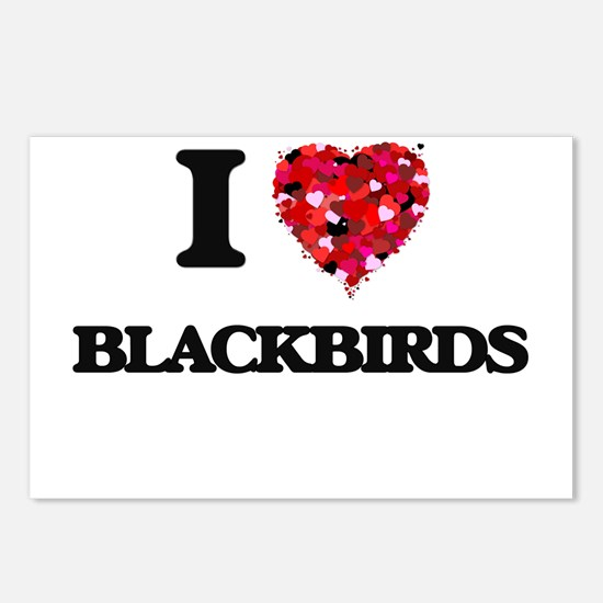 I Love Blackbirds Postcards (Package of 8)