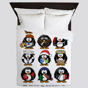 Penguins Queen Duvet