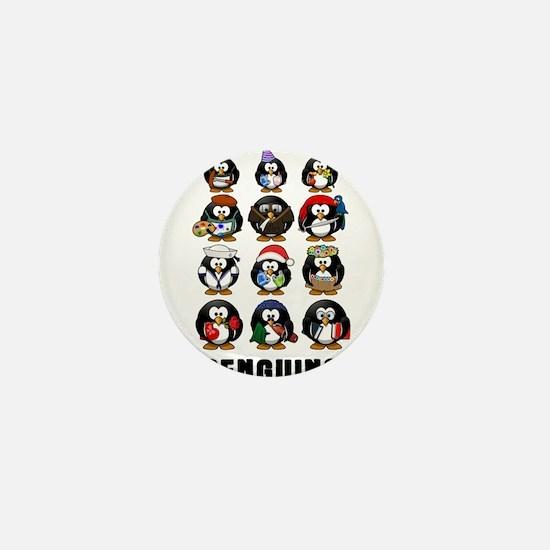 Penguins Mini Button (10 pack)