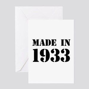 Made in 1933 Greeting Cards