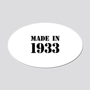 Made in 1933 Wall Sticker