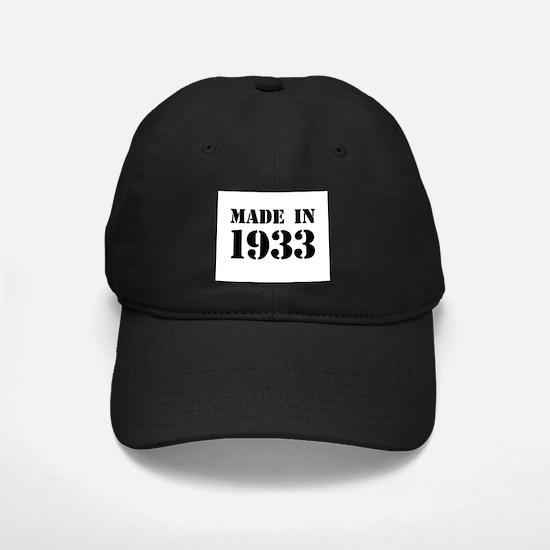 Made in 1933 Baseball Cap
